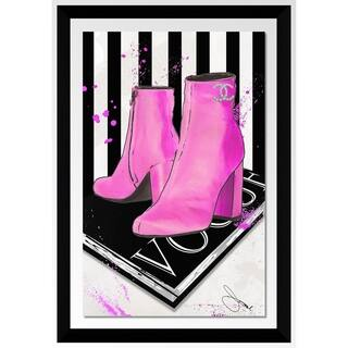 """BY Jodi """"These Boots By Coco"""" Framed Acrylic Wall Art Decor"""