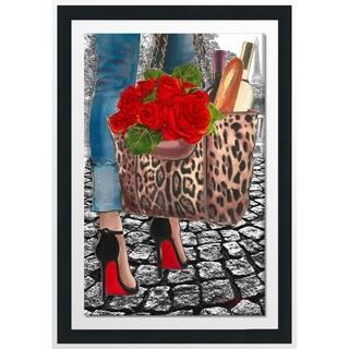 """BY Jodi """"Walk Inh The Park 2"""" Framed Acrylic Wall Art Décor"""