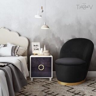 Julia Black Velvet Chair