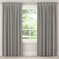 The Curated Nomad Hofn Unlined Curtain in Modern Vine Charcoal