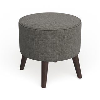 Carson Carrington Egilsstadir Round Ottoman with Splayed Legs