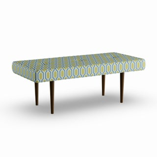 Carson Carrington Grindavik Button Tufted Bench with Cone Legs in Prints