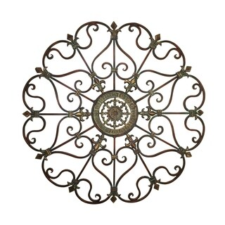Fabulous Metal Wall Décor with Intricate Design, Bronze