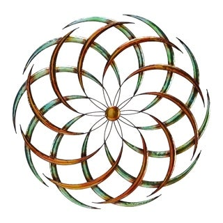 Benzara Modern Circular Metal Wall Decor, Multicolor