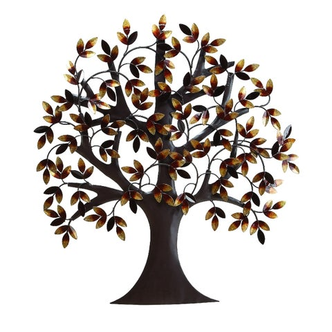 Nature Inspired Metal Tree Wall Décor, Multicolor