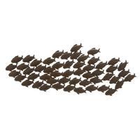 Attractive Metal Fish Wall Decor In Bronze