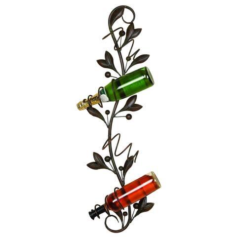 Metal Wall Wine Holder