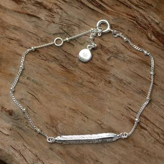 Handmade Sterling Silver 'Holy Feather' Bracelet (Indonesia)