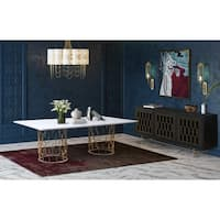 Gatsby Concrete Dining Table - White