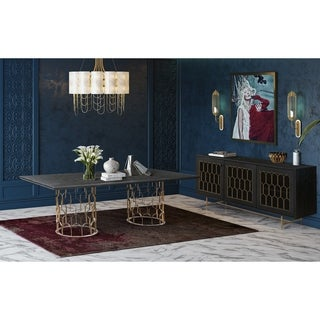 Gatsby Wood Dining Table - Black