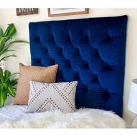 Plush Navy Diamond Tufted Twin/Twin XL Headboard