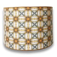 Royal Designs Modern Trendy Decorative Handmade Lamp Shade - - Yellow and Gold Kaleidoscope Design - 10 x 10 x 8