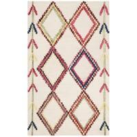 Safavieh Handmade Bellagio Moroccan Boho Ivory / Multi Wool Rug - 4' x 6'