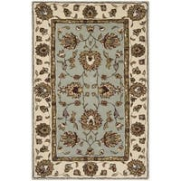 Safavieh Hand-Hooked Total Performance Traditional Light Blue / Ivory Rug - 4' x 6'