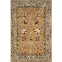 Safavieh Hand-Hooked Total Performance Traditional Copper / Moss Rug - 4' x 6'