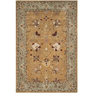 Safavieh Hand-Hooked Total Performance Traditional Copper / Moss Rug (4' x 6')