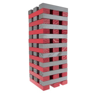 Outdoor Yard Giant Wooden Blocks Tower Stacking Game by Hey! Play! (2 options available)