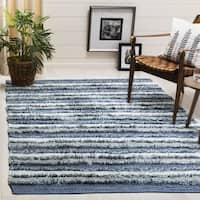 Safavieh Hand-Woven Montauk Contemporary Blue / Multi Cotton Rug (5' x 8') - 5' x 8'