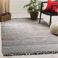 Safavieh Hand-Woven Montauk Contemporary Grey / Multi Cotton Rug - 5' x 8'