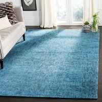 Safavieh Handmade Abstract Contemporary Blue / Multi Wool Rug - 6' x 9'