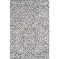 Safavieh Handmade Abstract Contemporary Grey / Ivory Wool Rug (6' x 9')