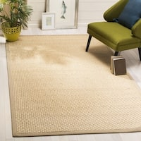Safavieh Natural Fiber Contemporary Natural / Beige Seagrass Rug - 6' x 9'