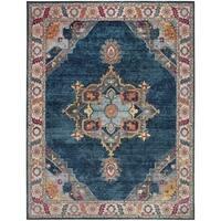 Safavieh Merlot Classic Blue / Multi Rug (8' x 10') - 8' x 10'