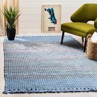 Safavieh Hand-Woven Montauk Contemporary Blue / Multi Cotton Rug - 8' x 10'
