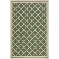 Safavieh Linden Contemporary Green / Creme Rug (9' x 12') - 9' x 12'