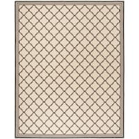 Safavieh Linden Contemporary Creme / Black Rug (9' x 12') - 9' x 12'