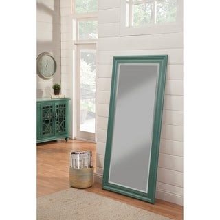 The Curated Nomad Donovan Teal Full-length Green Leaner Mirror