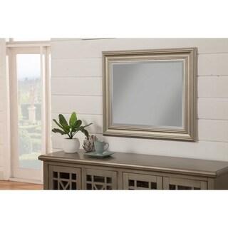 "Sandberg Furniture Elegant Antique Silver 36"" x 30"" Wall Mirror - Antique Silver"