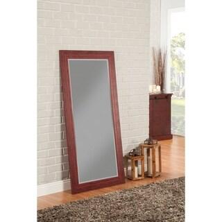 Sandberg Furniture Rustic Red Full Length Leaner Mirror - A/N