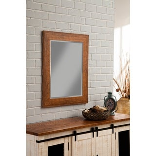 "Sandberg Furniture Rustic Honey Tobacco 36"" x 30"" Wall Mirror - Brown"