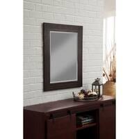 "Sandberg Furniture Rustic Espresso 36"" x 30"" Wall Mirror - Dark Brown"