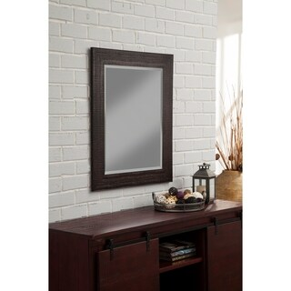 "Sandberg Furniture Rustic Espresso 36"" x 30"" Wall Mirror - Dark Brown"