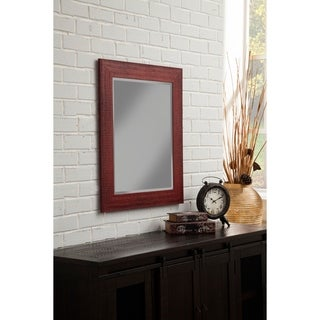 "Sandberg Furniture Rustic Red 36"" x 30"" Wall Mirror"