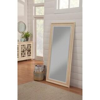 Sandberg Furniture Elegant Antique White Full Length Leaner Mirror - Antique White
