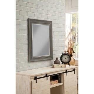 """Sandberg Furniture Antique Grey Farmhouse 36"""" x 30"""" Wall Mirror - A/N"""