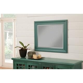 "Sandberg Furniture Elegant Teal 36"" x 30"" Wall Mirror - Green"