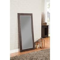 Sandberg Furniture Rustic Espresso Full Length Leaner Mirror - Dark Brown