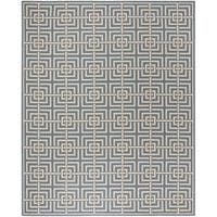 Safavieh Linden Contemporary Blue / Creme Rug - 9' x 12'