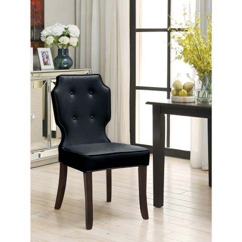 Chic Home Star Button Tufted Pebble Grain Dining Chairs (Set of 2)