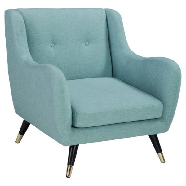 Excellent Shop Menga Blue Accent Chair Free Shipping Today Machost Co Dining Chair Design Ideas Machostcouk