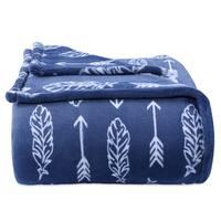 Berkshire Blanket Artful Feathers Blue PrimaLush Blanket