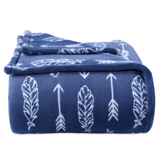 Berkshire Blanket Artful Feathers Blue PrimaLush Blanket (3 options available)