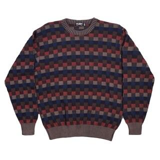 San Remo 100% Cotton Men's Crew Neck Sweater. Size: L