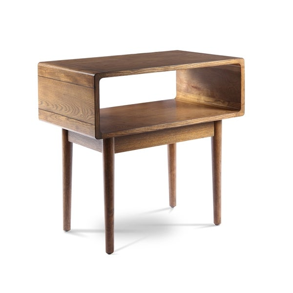 Haven Home Darden Mid Century Wooden Walnut End Table