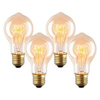 Light Society Darby A19 Vintage Edison Bulbs 40W, Set of 4