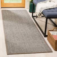 Safavieh Natural Fiber Contemporary Natural / Taupe Seagrass Rug - 2'6' x 8'